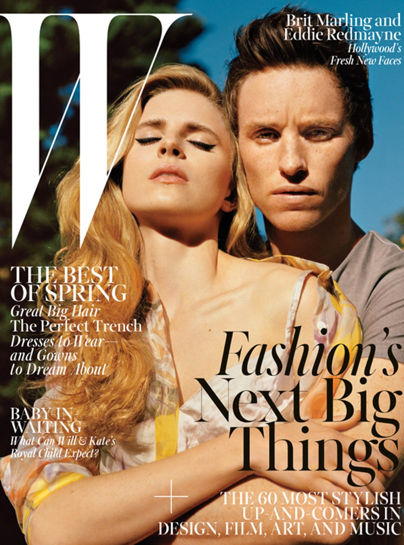 Brit Marling, Eddie Redmayne april 2013 cover