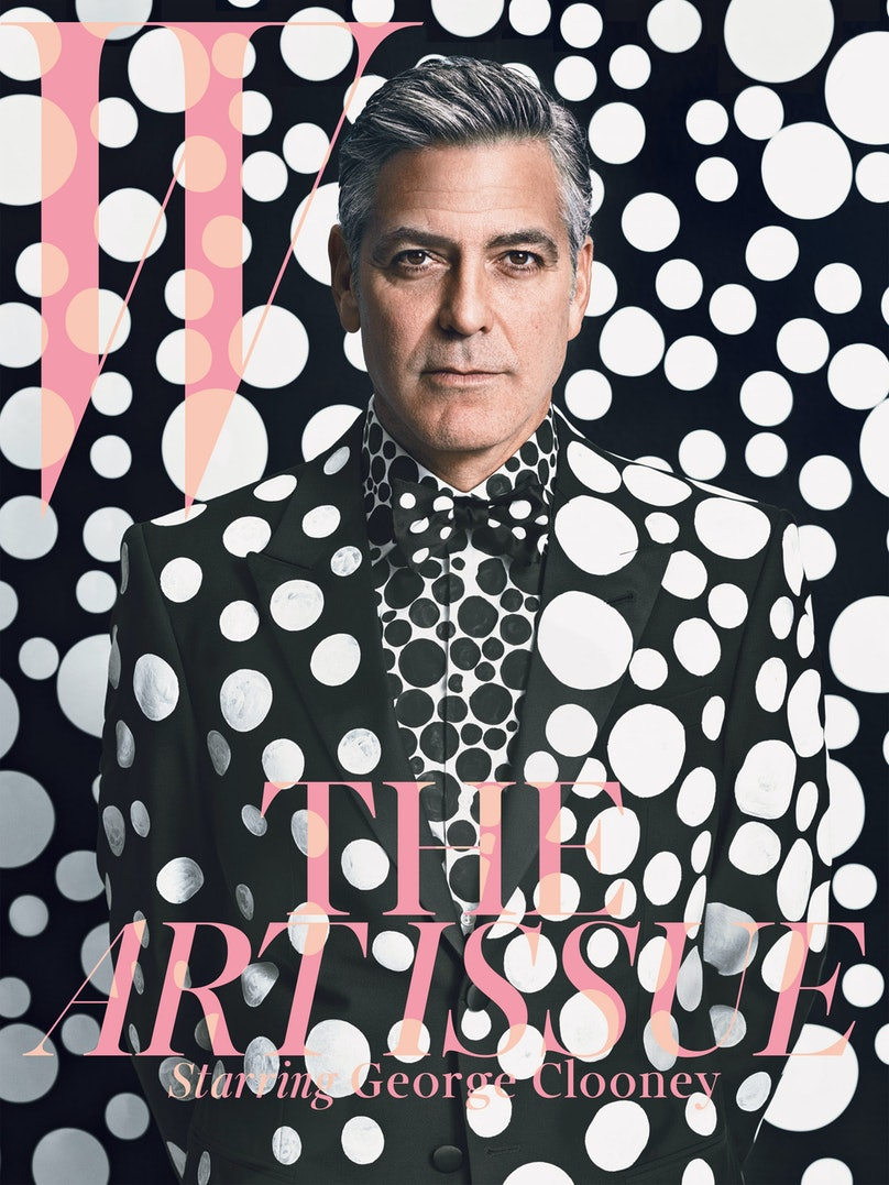 George Clooney on the cover of W's December/January issue