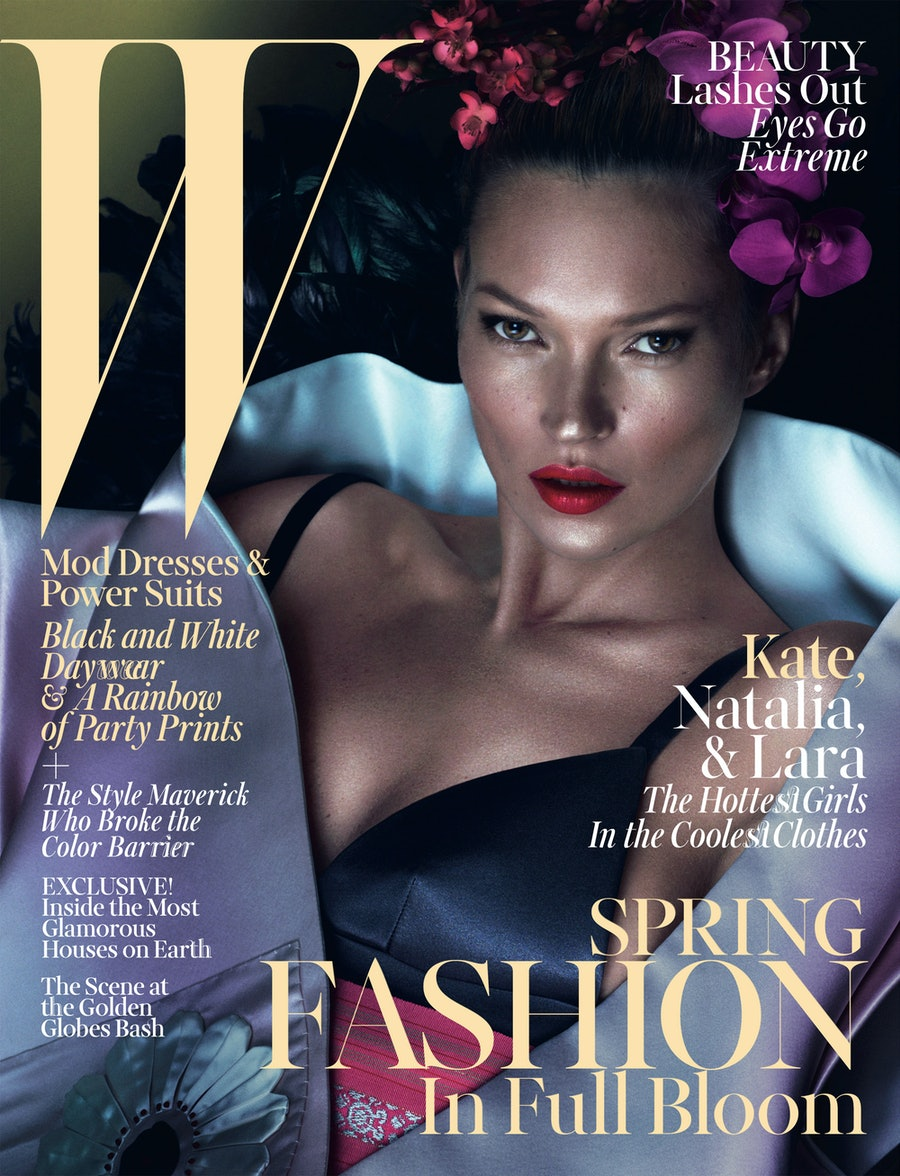 Kate Moss W Magazine March 2013