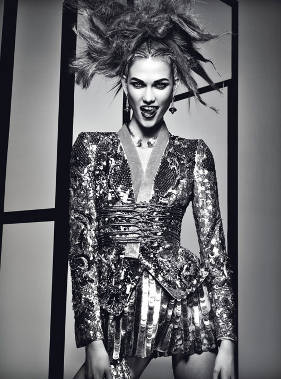 "Up the ante à la Karlie Kloss in April 2012's ""[Drama Queen](http://www.wmagazine.com/fashion/features/2012/03/karlie-kloss-drama-queen-ss/photos/slide/8),"" photographed by Craig McDean and styled by Lori Goldstein."