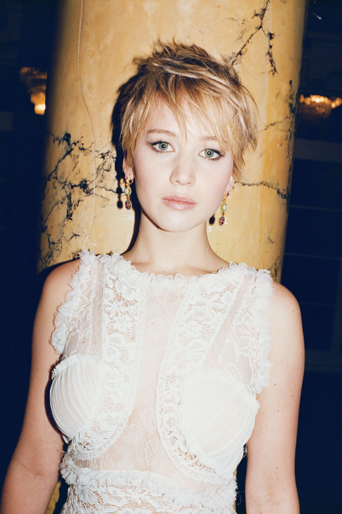 Jennifer Lawrence. Nina Ricci gown.