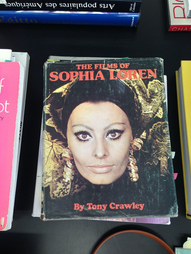 """""""I was at a meeting in Milan, when I spotted this book of photos of Sophia Loren from different films. The cover is so great—it reminds me of Federico Fellini's Satyricon. To be honest, I thought of stealing it—but only for a split second."""""""