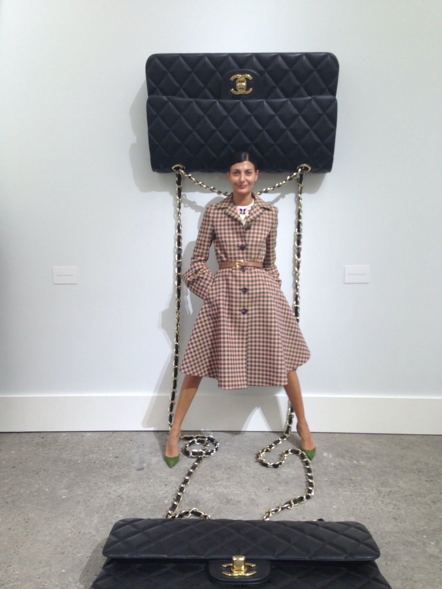 """""""For his spring 2014 Chanel show, Karl Lagerfeld transformed the Grand Palais in Paris into a huge art gallery, with installations that looked like actual works for sale. Finally, a bag big—and chic—enough to hold all my stuff!"""""""