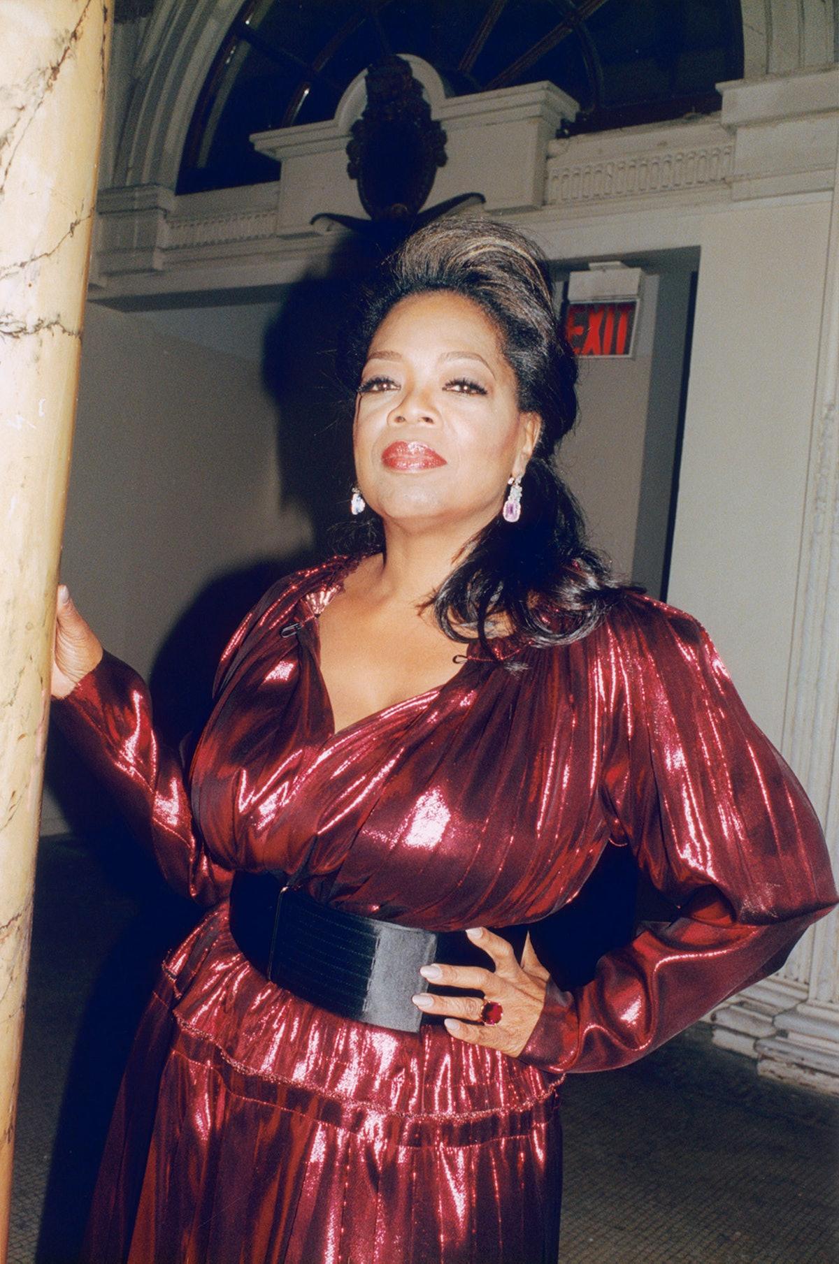 Oprah Winfrey in Lanvin.