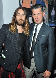 Jared Leto and Stefano Tonchi. Photo by Getty Images.