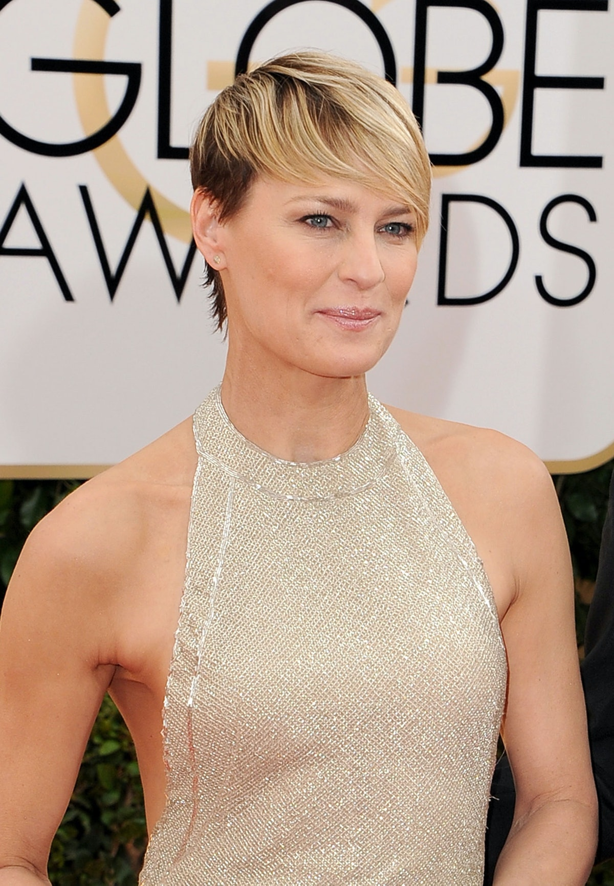 Tricia Sawyer is the genius behind __Robin Wright__'s warm, understated makeup look, but it's Wright...