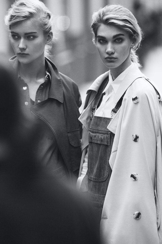 Lacoste coat; Michael Michael Kors jumpsuit. DKNY trenchcoat; DKNY Jeans overalls; Basler shirt.