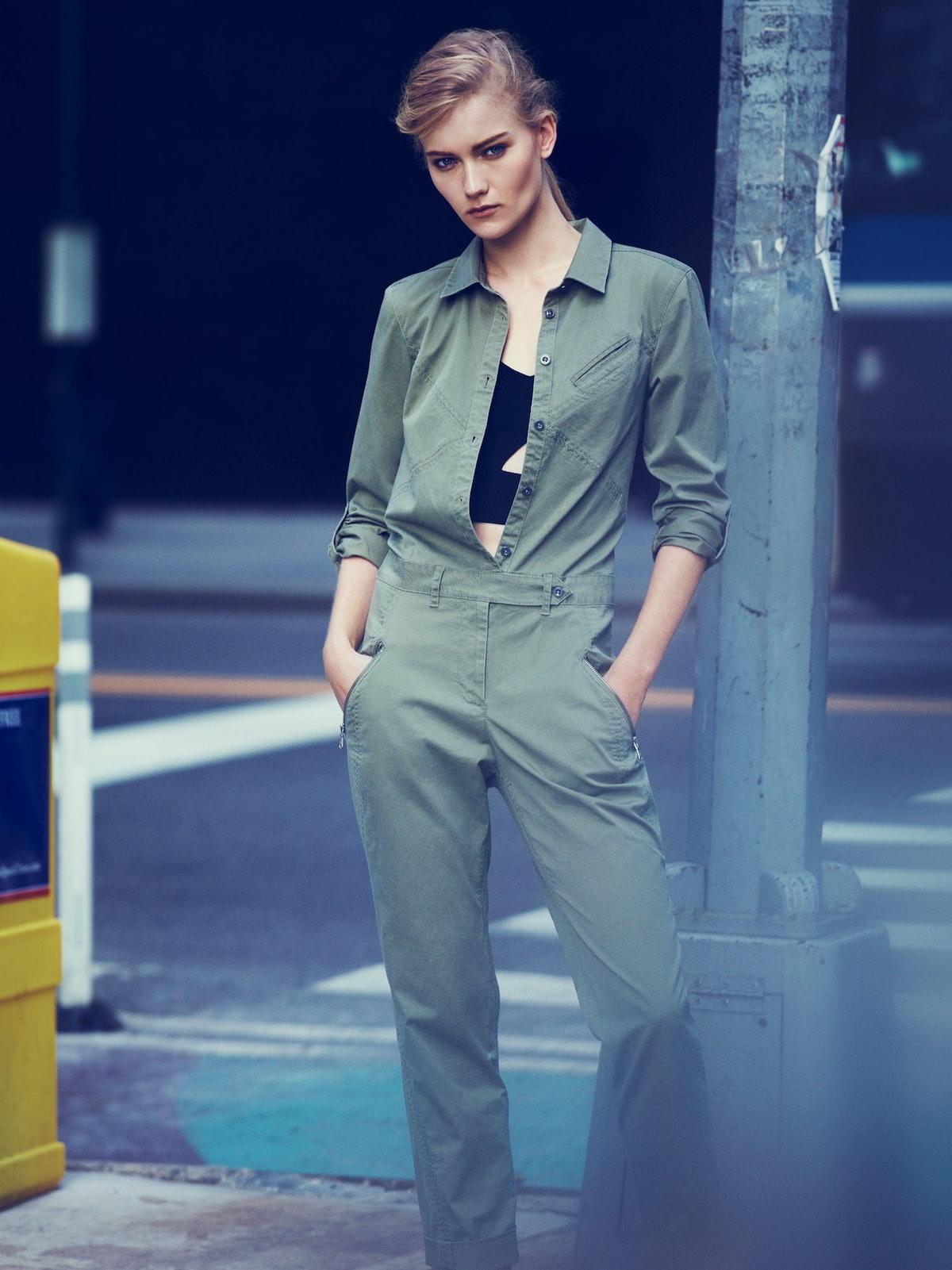 Marc by Marc Jacobs jumpsuit; Paule Ka bra top.