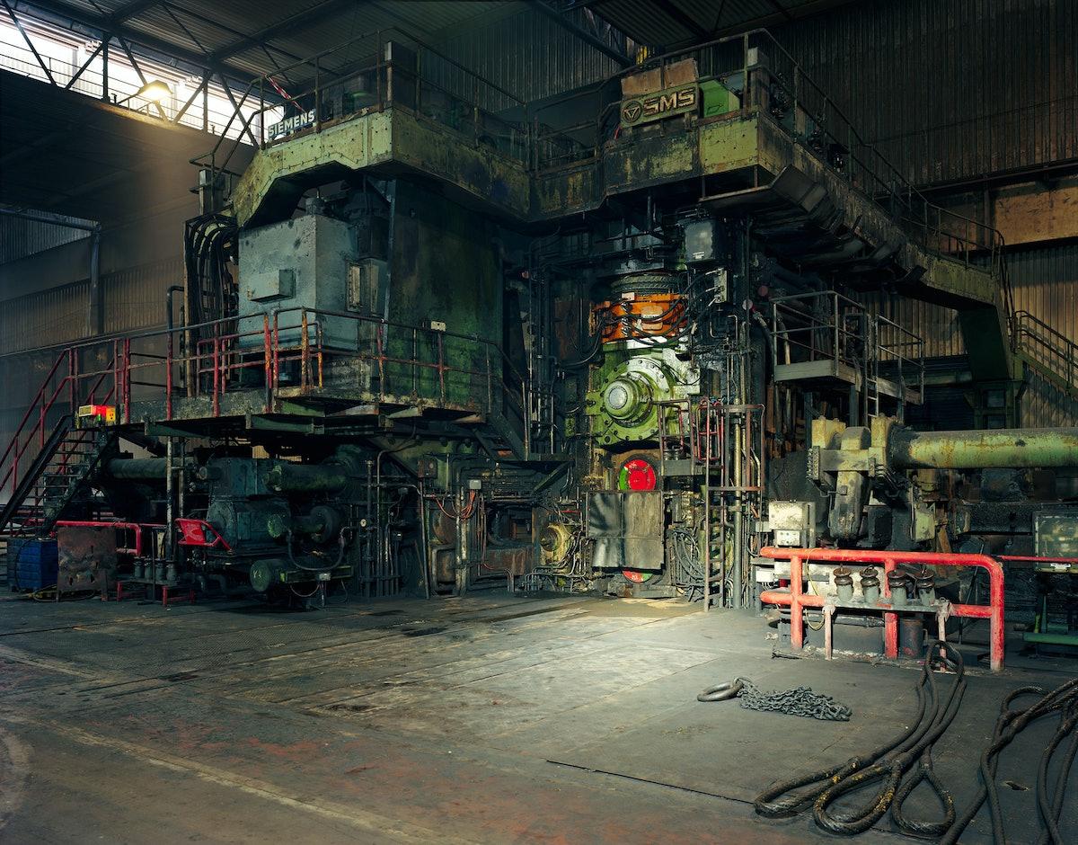 *Hot Rolling Mill, ThyssenKrupp Steel, Duisburg,* 2010. Image courtesy of Marian Goodman Gallery.