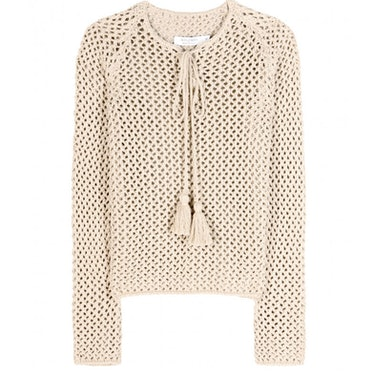 A good knit is always in order for cool nights, Altuzarra's ethnic inspired resort collection has a ...