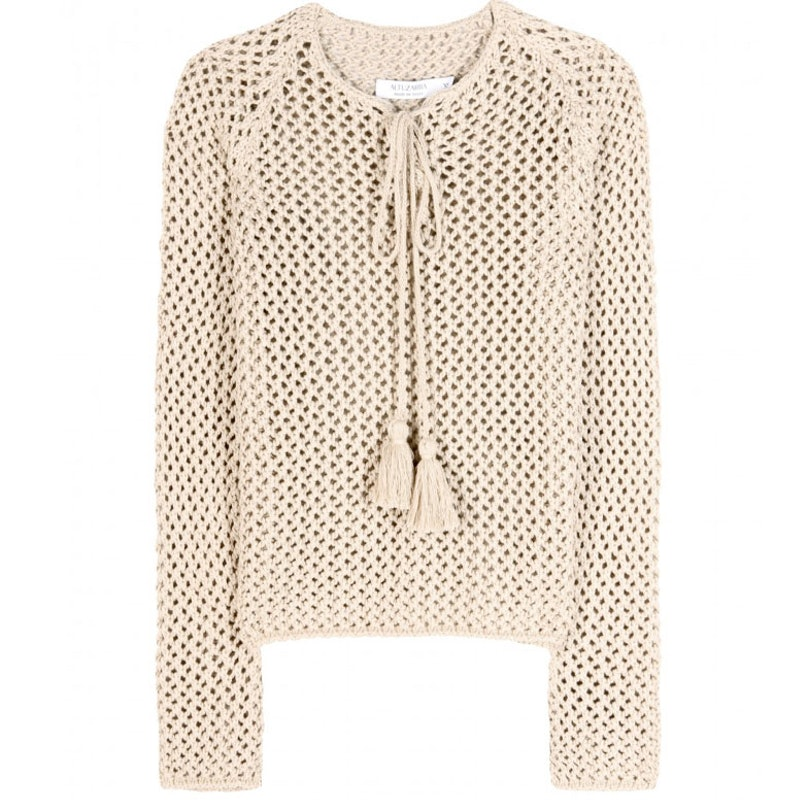 A good knit is always in order for cool nights, Altuzarra's ethnic inspired resort collection has a great one. Altuzarra Sitar open-knit sweater, $990, [mytheresa.com](http://rstyle.me/n/em9ew35fn).