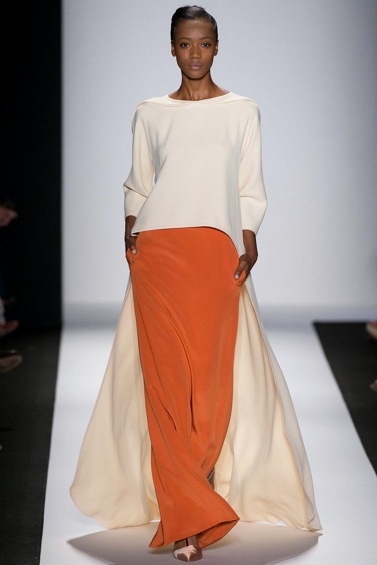 [Carolina Herrera](http://www.wmagazine.com/fashion/fashion-week-reviews/2013/09/carolina-herrera-spring-2014/) Spring 2014. Photograph courtesy of the designer.