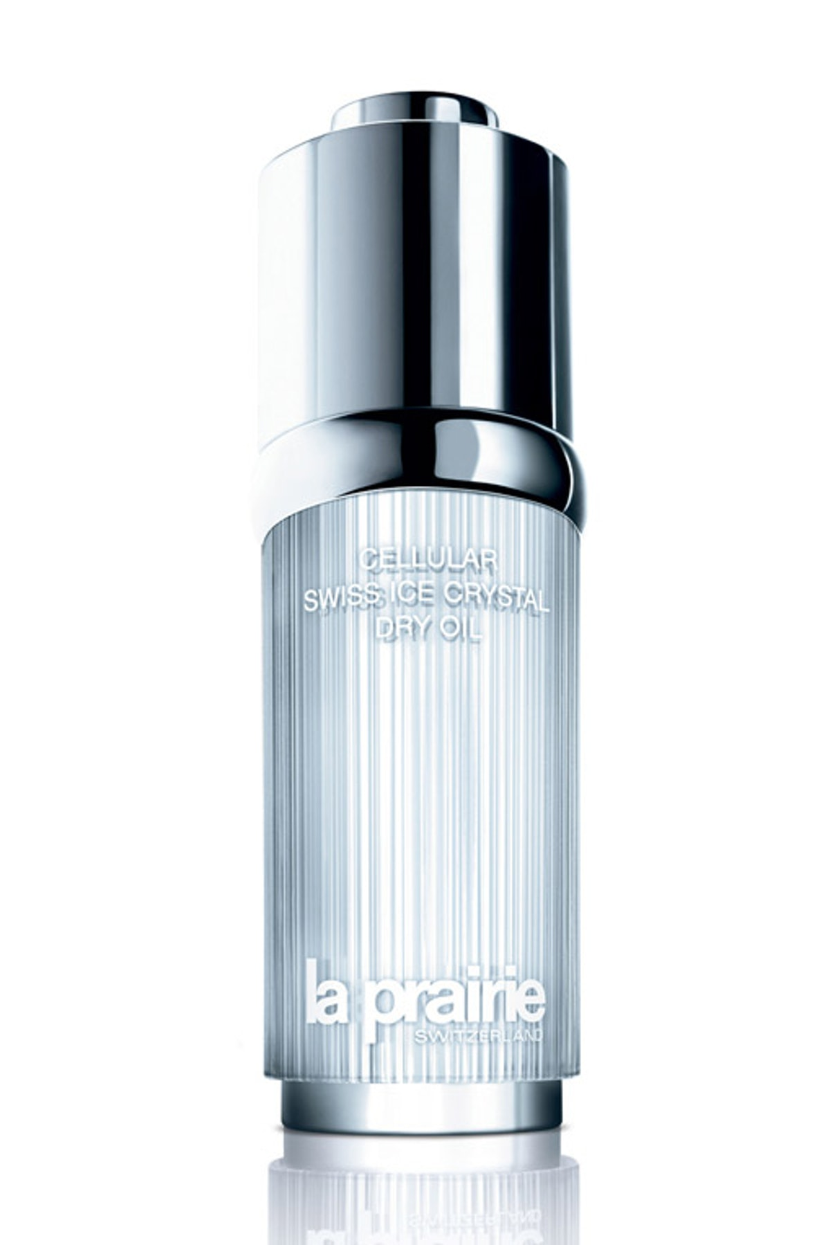 __La Prairie Cellular Swiss Ice Crystal Dry Oil__ ($300, [laprairie .com](http://www.laprairie.com/default/home)): The Alpine flowers and algae in this light oil protect and moisturize. One drop and my cheeks look as dewy as Kiernan Shipka's.