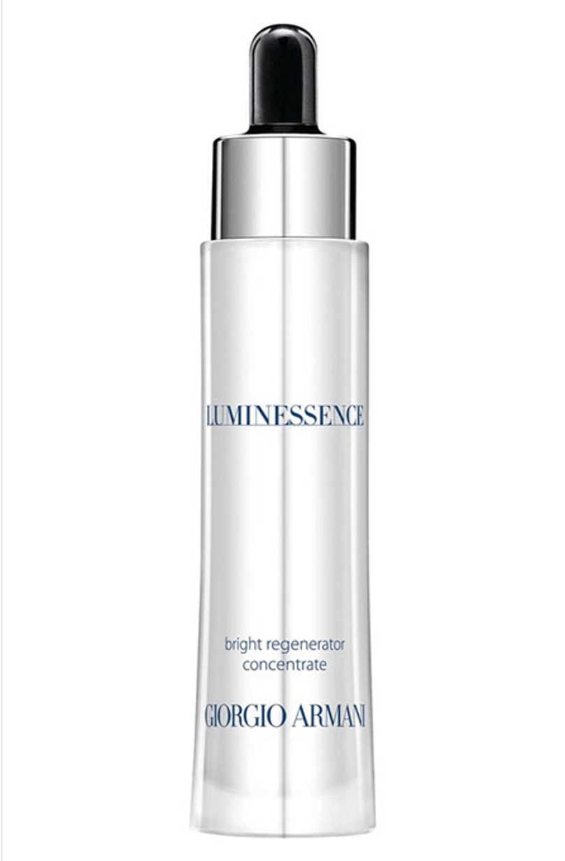 """__Giorgio Armani Luminessence CC__ ($50, [giorgioarmanibeauty-usa.com](http://rstyle.me/n/ekbyv3w3n)): The light and sheer formula neutralizes dark spots and redness, giving skin that coveted """"naturally perfect"""" look."""