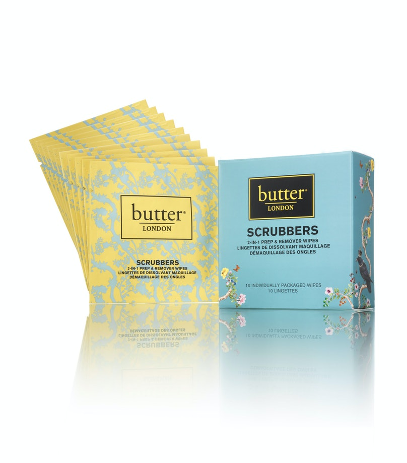 __Nail Polish Remover:__ Butter London Scrubbers, $10, [butterlondon.com](http://butterlondon.com)
