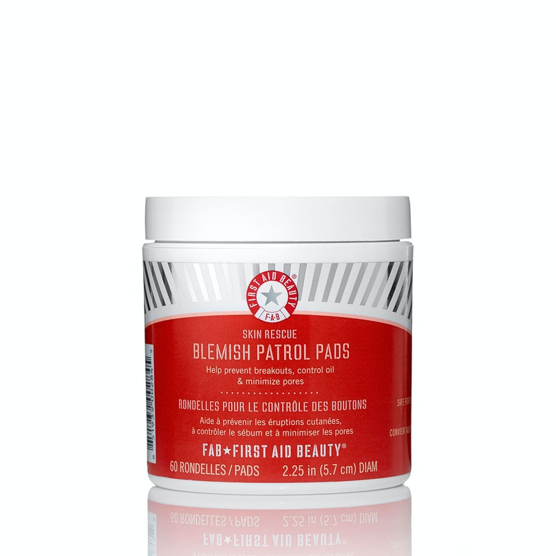 __Acne Treatment:__ First Aid Beauty Skin Rescue Blemish Control Pads, $30, [sephora.com](http://rstyle.me/n/eskmc35fn)