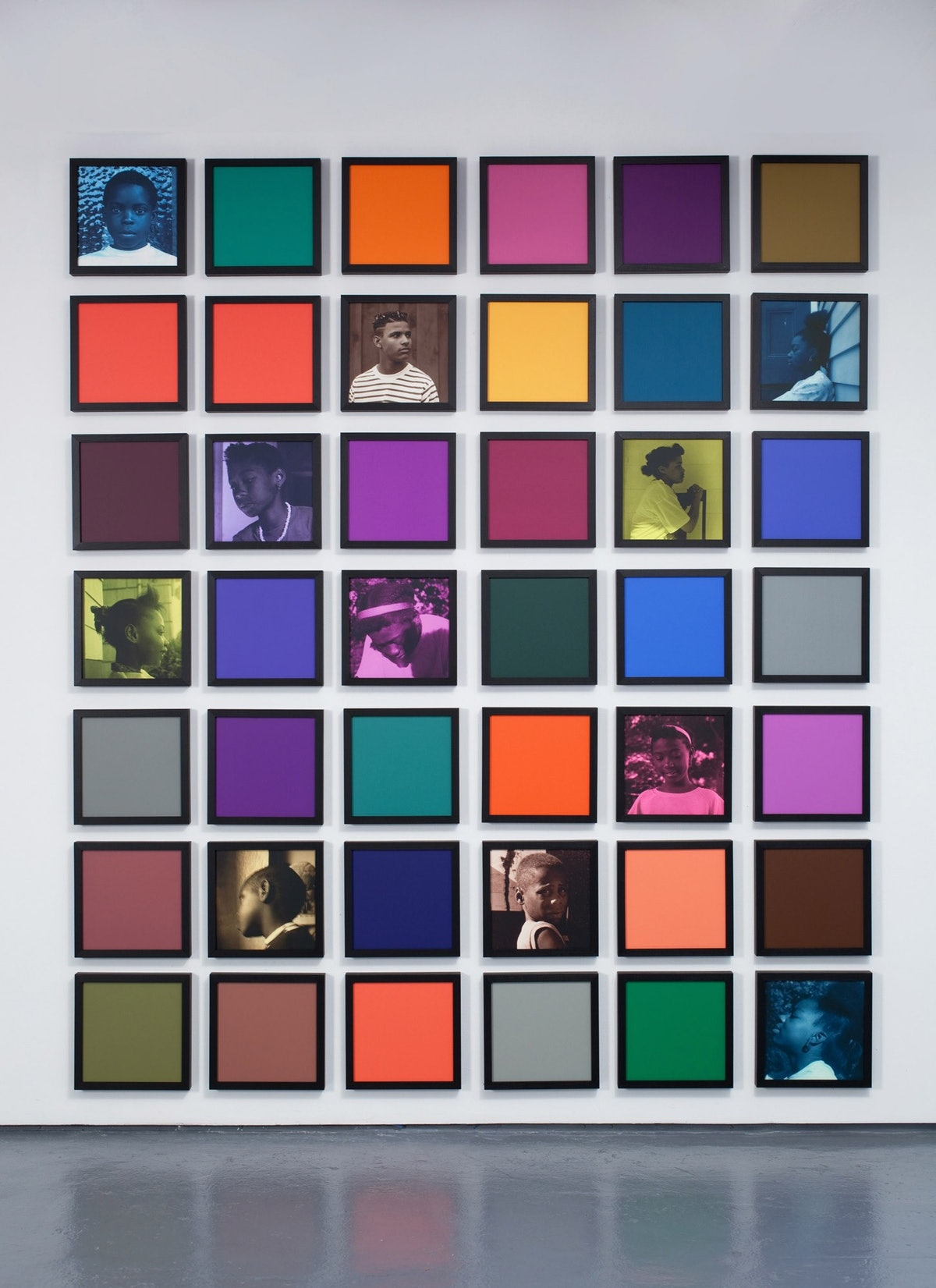*Untitled* (*Colored People Grid*), 2009-10. Courtesy of the artist and Jack Shainman Gallery.
