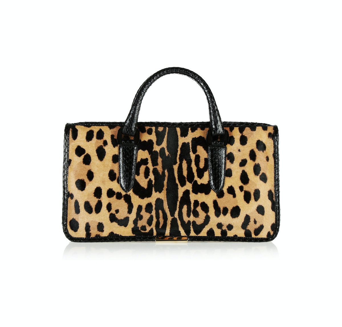 I think the new Tamara Mellon bags are great for spring—and they come at a great price. *Tamara Mellon Diglam elaphe-trimmed leopard-print calf hair tote, $1095,* [*netaporter.com*](http://www.net-a-porter.com/product/415790)