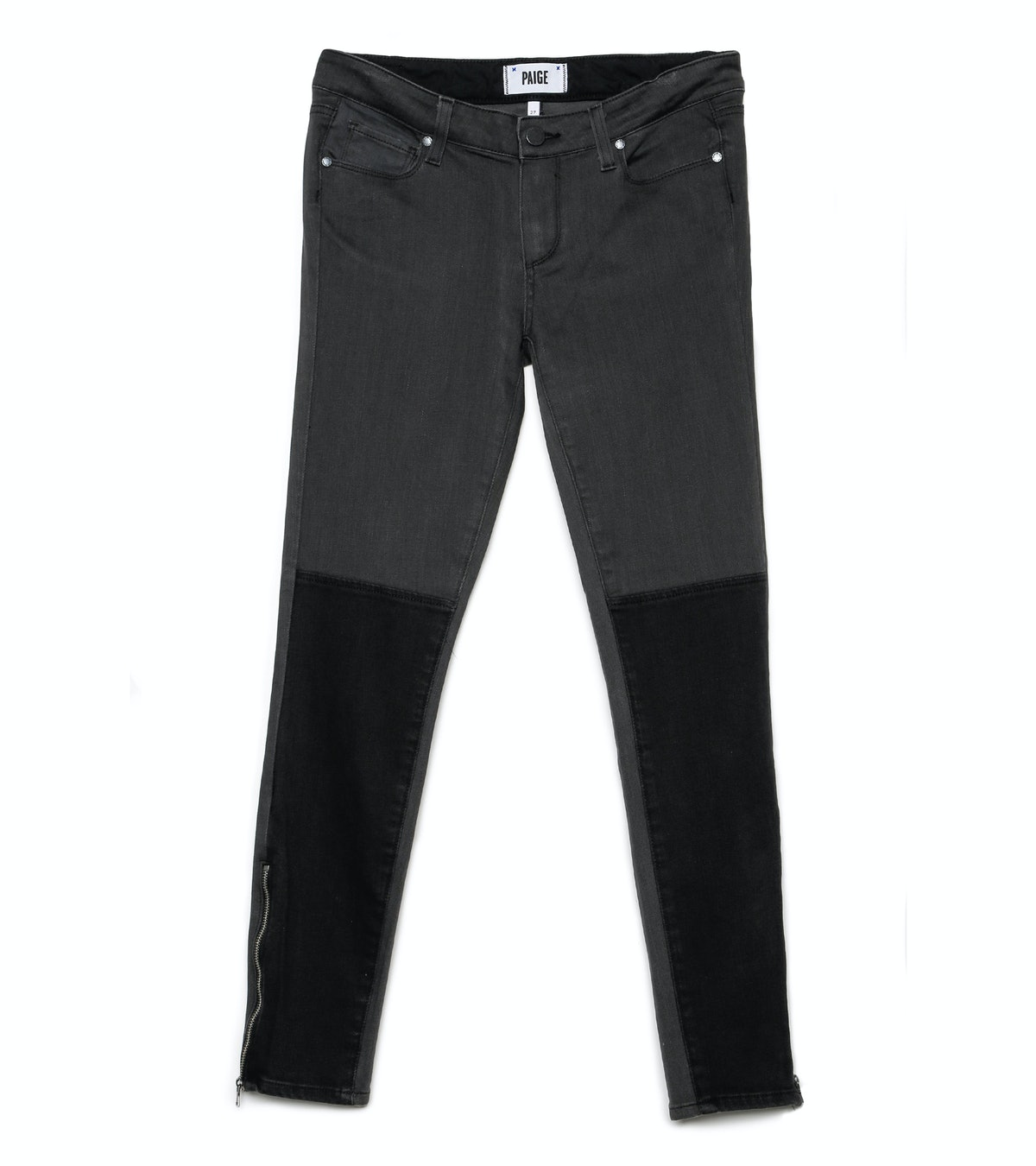 I am always on the search for new denim pieces—so I was thrilled to find these great fitting patchwork jeans from Paige. *Paige Cara zip jean, $229, [paigeusa.com](http://www.paigeusa.com/cara-zip-concrete/d/400002225).*