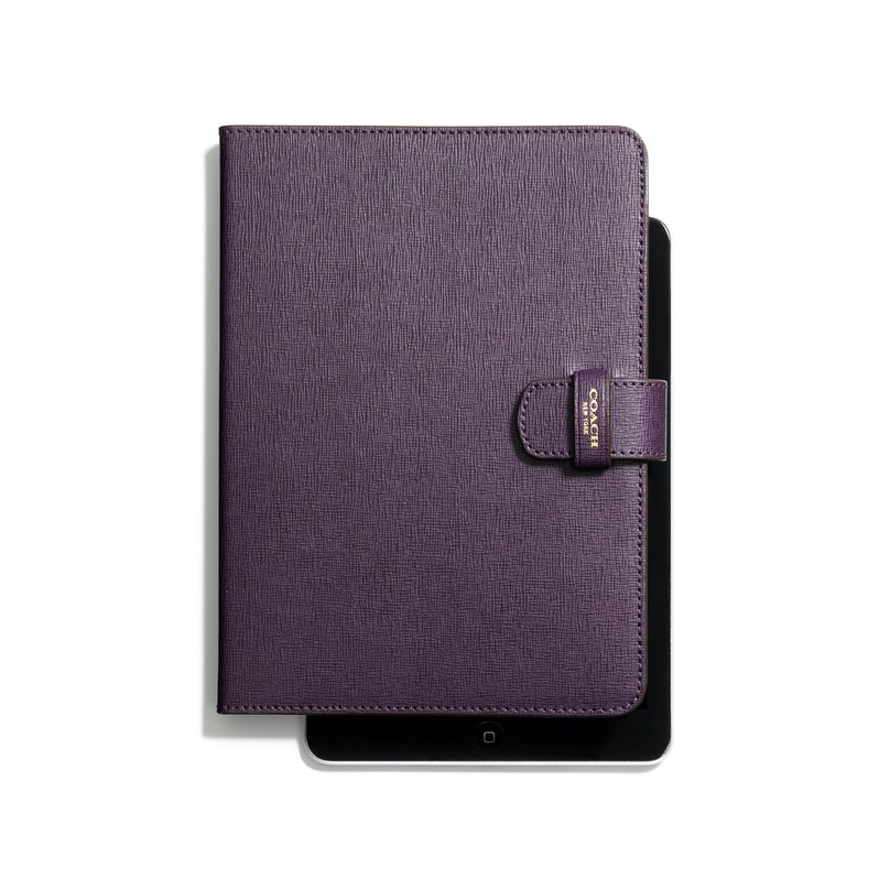 I have not yet succumbed to writing notes on my new iPad, but I use it for just about everything else during fashion week. On the go, I need to keep it protected with a chic cover like this one from Coach. *Coach iPad folio in Saffiano leather, $178, [coach.com](http://www.coach.com/online/handbags/Product-ipad_folio_in_saffiano_leather-10551-10051-67282-en?cs=b4bnh&catId=5000000000000289803&navCatId=7100000000000000637).*