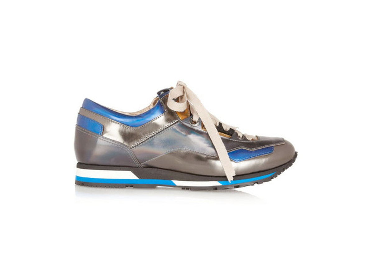 Sneakers were weirdly all over the couture runways (Chanel, Dior) and I am now obsessed with them. I'll get my fix asap with these metallic sneakers from Lanvin. *Lanvin holographic leather sneakers, $695, [netaporter.com](http://www.net-a-porter.com/product/402103).*