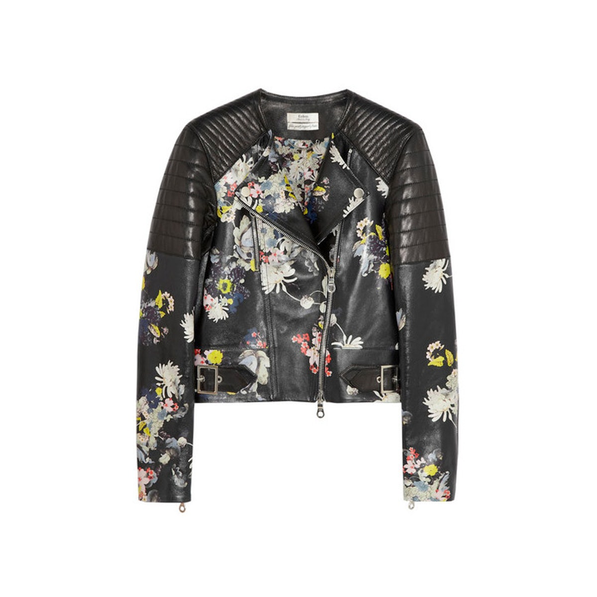 Believe it or not, I didn't own a single perfecto jacket until I got this beautiful floral one from Erdem, which is great for layering over a million turtlenecks or under a heavy coat until spring. *Erdem jade floral-print nappa leather biker jacket, $5100,* [*net-a-porter.com*](http://www.net-a-porter.com/product/407965)