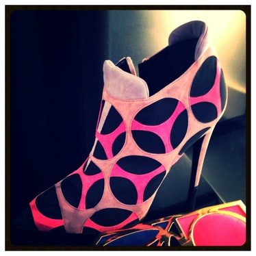 How fun is this colorful Pierre Hardy bootie?