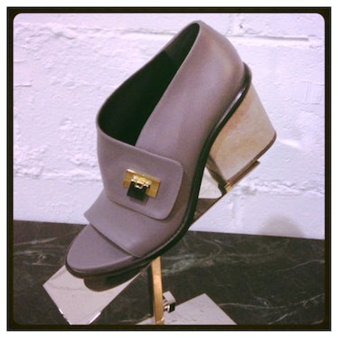The chunky heel of this open-toe [Balenciaga](http://www.wmagazine.com/mood-board/filter?q=^Designer...