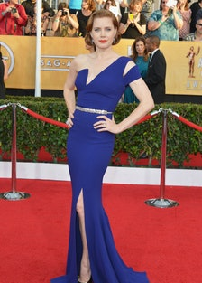 Old Hollywood was the name of the game at the 2014 SAG Awards. With a faux bob, and red lips, [Amy A...