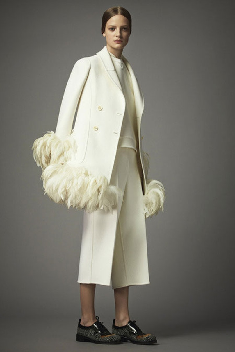 __[Valentino](http://www.wmagazine.com/mood-board/filter?q=^Designer|Valentino|):__ The contrast of this coat's clean lines and voluminous feathers make it a memorably eccentric yet surprisingly wearable statement piece.      Photo courtesy of the designer.