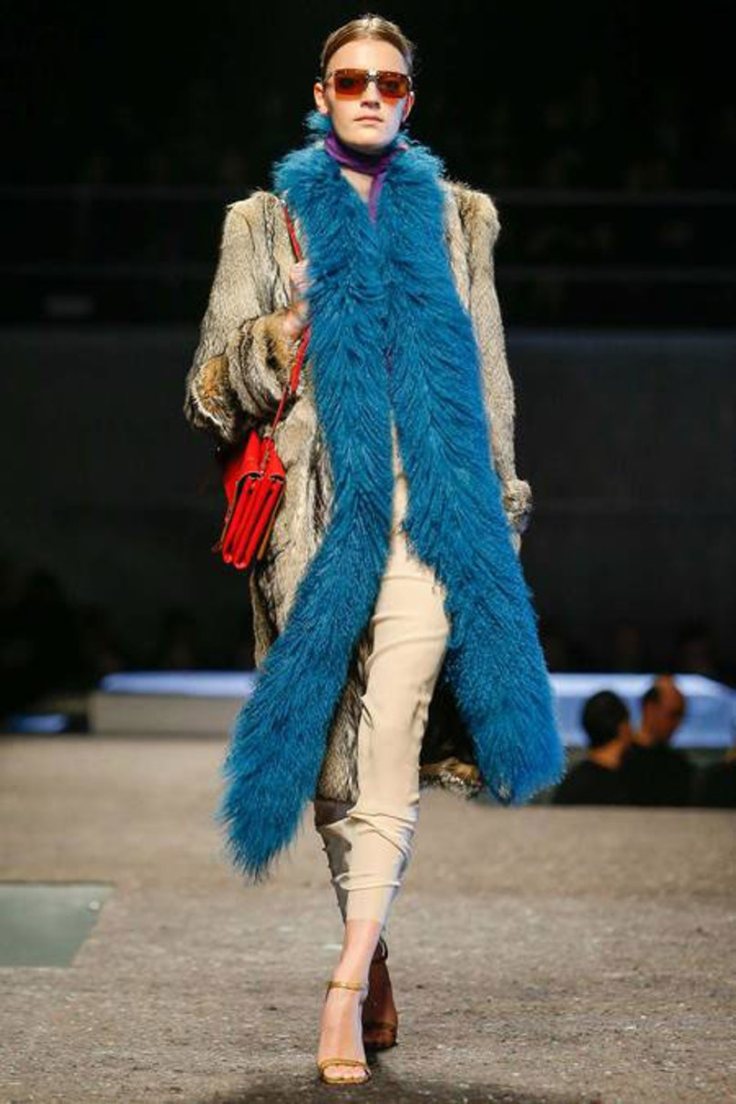 __[Prada](http://www.wmagazine.com/mood-board/filter?q=^Designer|Prada|):__ While this overall look is fantastically retro, the coat on its own would work in any decade.      Photo courtesy of the designer.