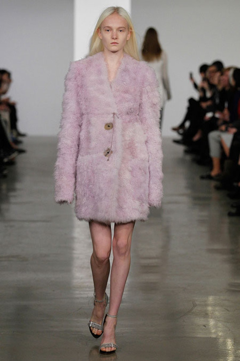 __[Calvin Klein](http://www.wmagazine.com/mood-board/filter?q=^Designer|Calvin%20Klein|):__ A pastel pink coat is the kind of whimsical piece that every woman should have in her wardrobe.      Photo courtesy of the designer.