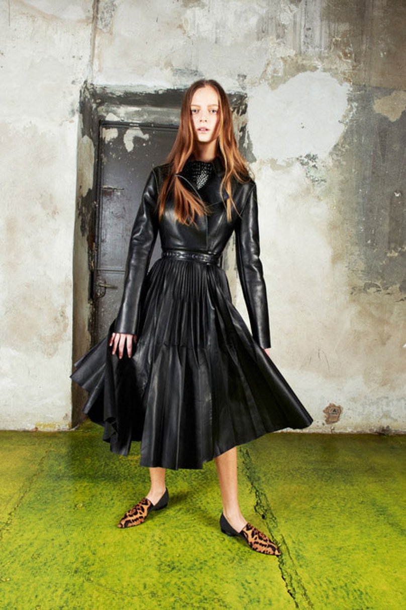 __[Vionnet](http://video.wmagazine.com/watch/tim-walker-kristen-mcmenamy-mermaid):__ This voluminous leather coat is an absolute dream; it's a little bit lady and little bit rock and roll.      Photo courtesy of the designer.