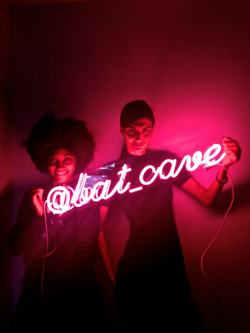 """""""My assistant, Solange, knows I love Tracey Emin. Since I can't afford one of her pieces just yet, Solange had this neon sign made for me for my birthday. We always refer to my office as a cave. I think I'll mount it on top of my fireplace."""""""