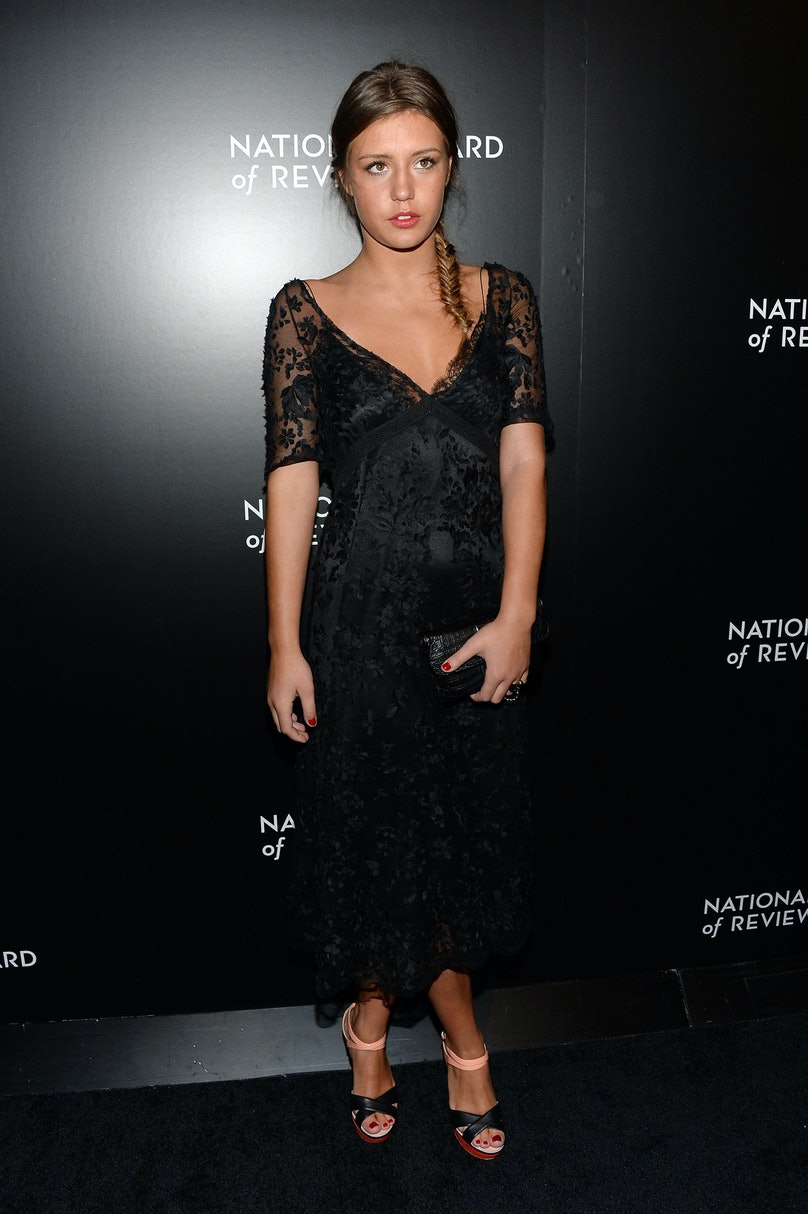 Exarchopoulos picked up the Female Breakthrough Performance Award at the National Board of Review Awards Gala in a lace [Louis Vuitton](http://www.wmagazine.com/mood-board/filter?q=%5EDesigner%7CLouis%20Vuitton%7C) dress and color-blocked [Jimmy Choo](http://www.wmagazine.com/mood-board/filter?q=%5EDesigner%7CJimmy%20Choo%7C) sandals. Her messy fishtail braid, winged eyeliner, and red nails were the perfect finishing touches.      Photo by Getty Images