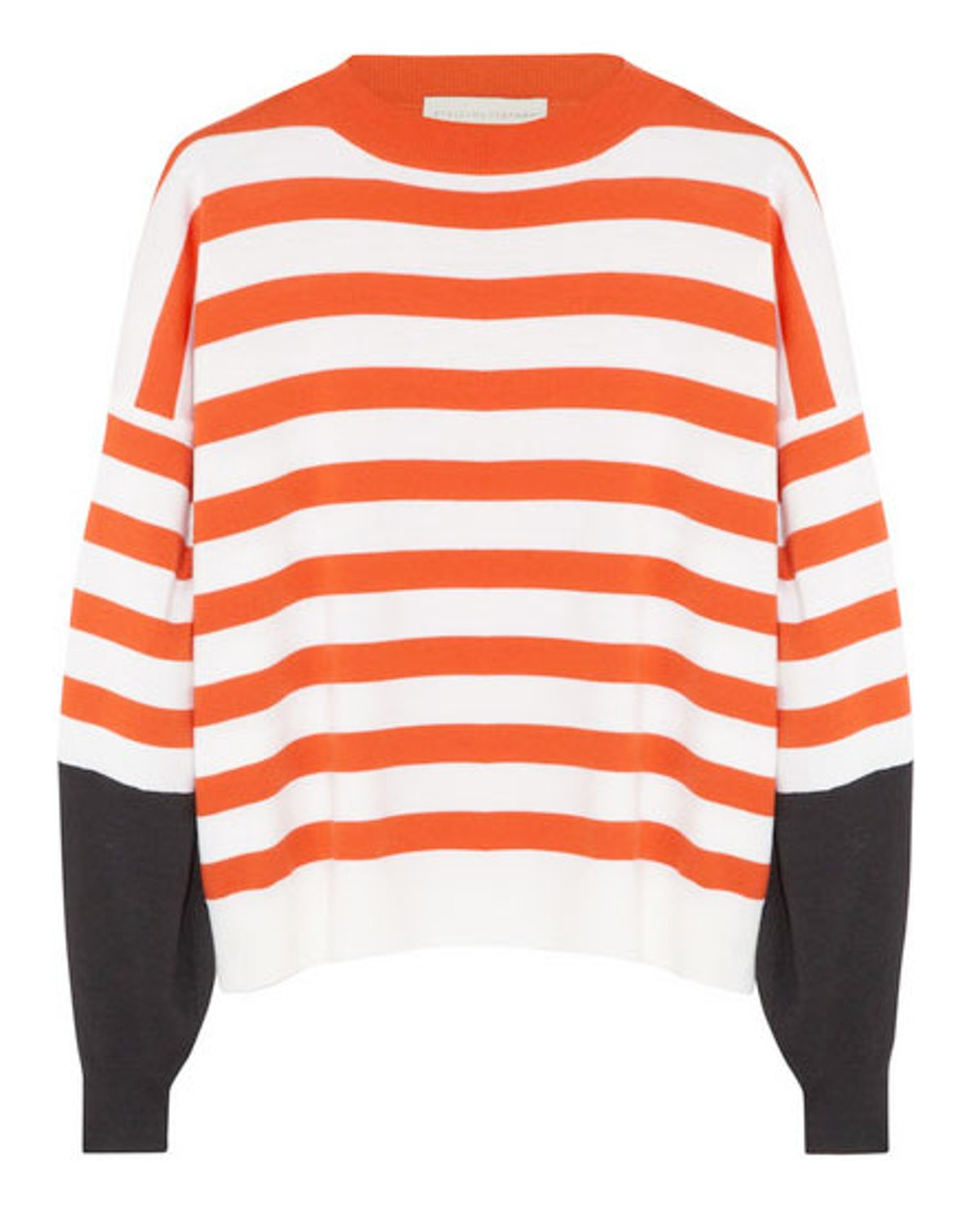 Good thing for Broncos fans orange is in for spring. *Stella McCartney striped wool sweater, $770, [net-a-porter.com](http://www.net-a-porter.com/product/403258).*