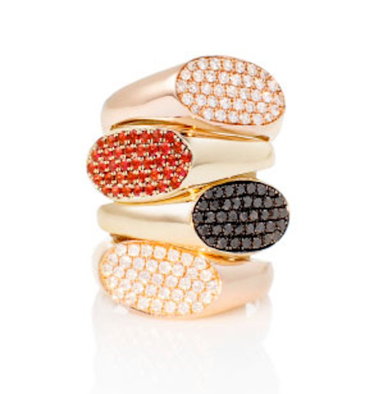 Our idea of a Super Bowl ring. *Garland Rings, $1900 each, [garlandcollection.com](http://garlandcollection.com).*