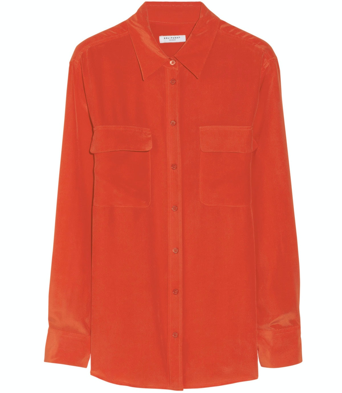 This classic button-down shirt comes in the best shade of orange—perfect for watching the big game. *Equipment top, $210, [net-a-porter.com](http://www.net-a-porter.com).*