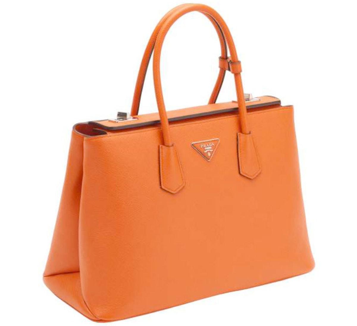 More fun for Broncos fans—or Prada fans. *Prada Twin Bag, $2950, [prada.com](http://store.prada.com/en/US/woman/handbags/totes/BN2748_2A4A_F0S73).*