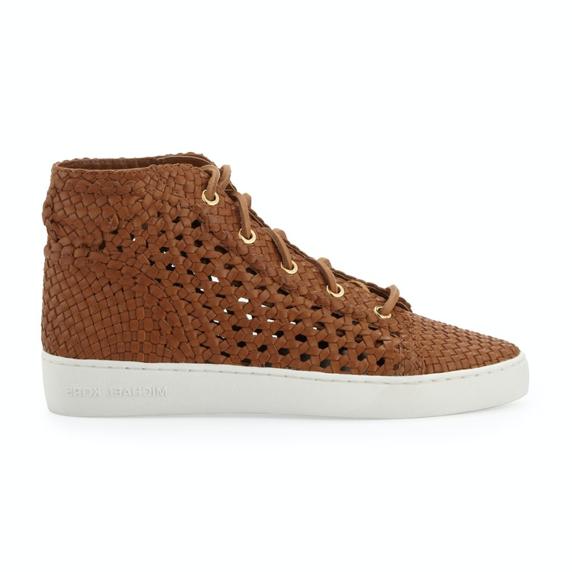 Michael Kors verna woven sneaker, $395, [neimanmarcus.com](http://www.neimanmarcus.com/Michael-Kors-Verna-Woven-Sneaker-Michael-Kors-Sneakers/prod167780205___/p.prod?icid=&searchType=MAIN&rte=%2Fsearch.jsp%3FN%3D0%26Ntt%3DMichael%2BKors%2BSneakers%26_requestid%3D51345&eItemId=prod167780205&cmCat=search).