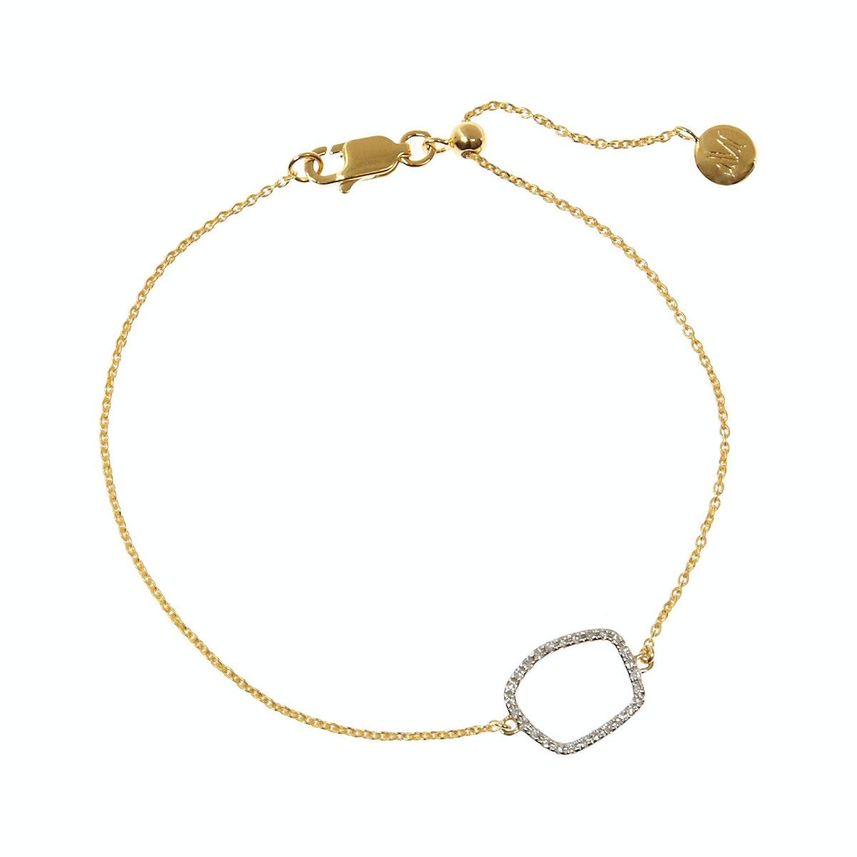 Monica Vinader Riva gold-plated diamond bracelet