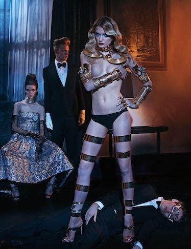 Dior dress.