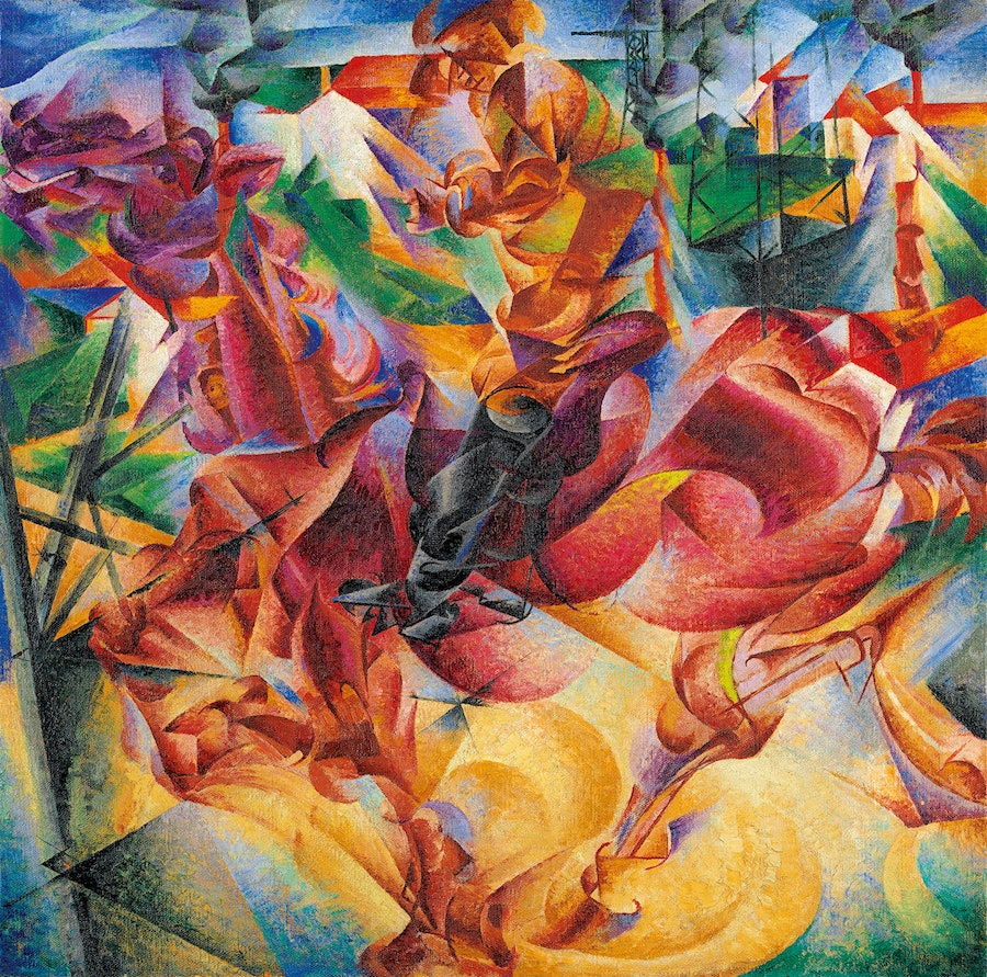 Umberto Boccioni's *Elasticity*, 1912. Photograph courtesy of Museo del Novecento and the Guggenheim Museum.