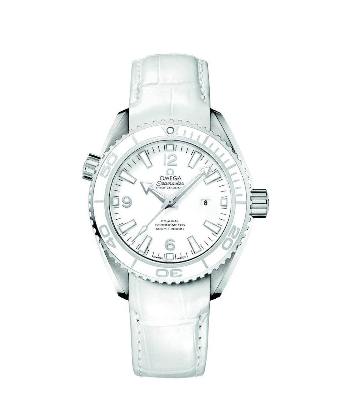 Omega white watch