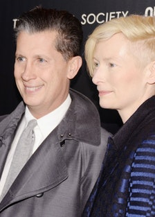 Stefano Tonchi and Tilda Swinton.