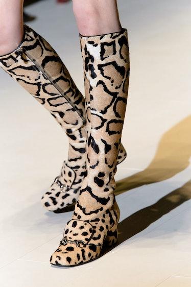 Gucci Fall 2014 Leopard Boots