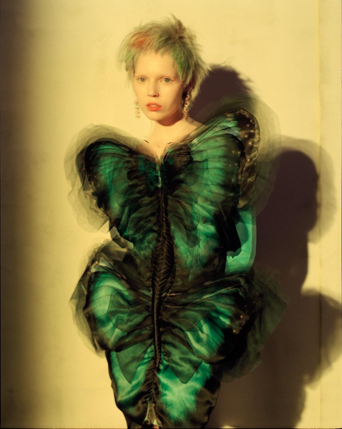 Gaultier Paris dress and gloves