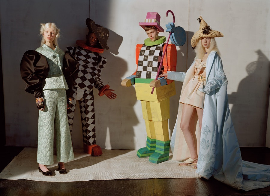 Schiaparelli Haute Couture suit and shoes
