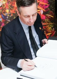 Dries Van Noten book signing