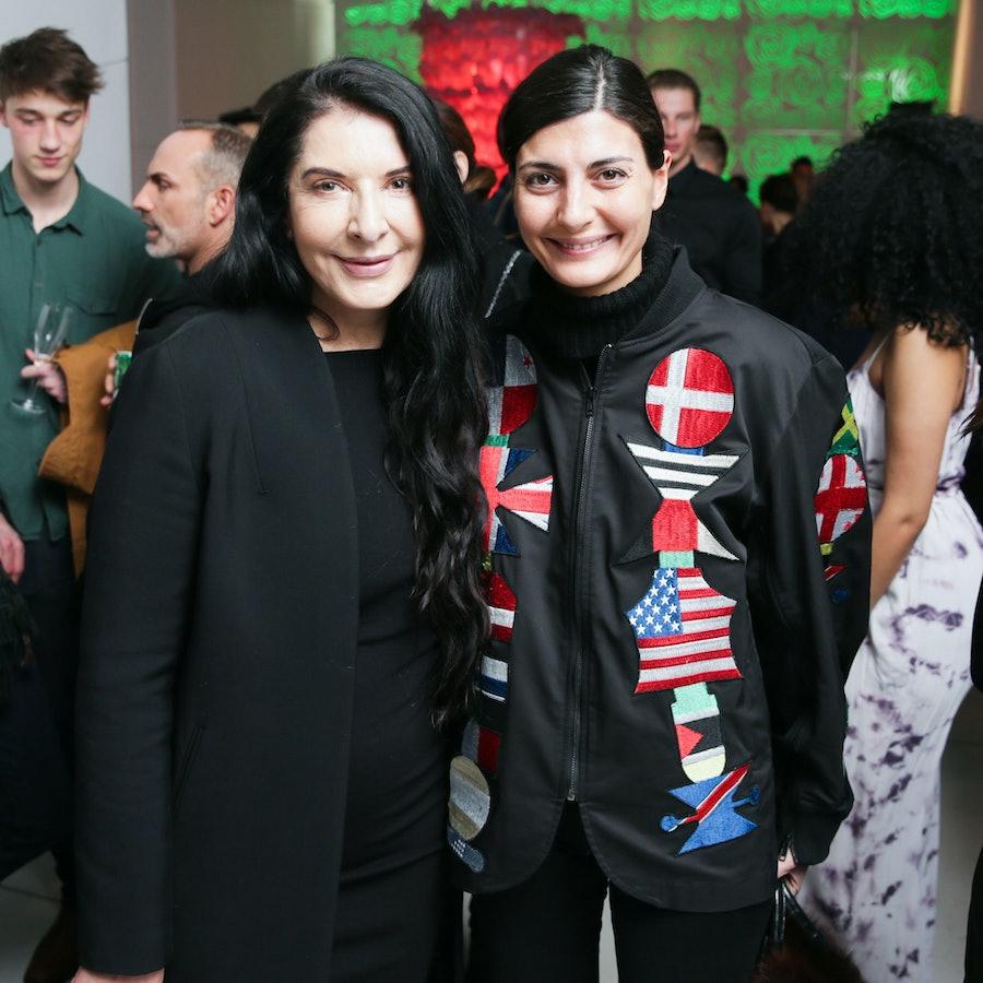 Marina Abramovic and Giovanna Battaglia.